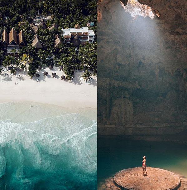 praia-no-golfo-do-mexico-para-curtir-a-meia-estação-ruinas-de-templos-maias-em-tulum-no-mexico