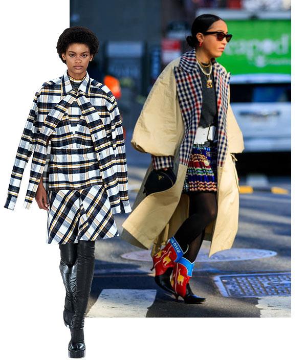 street-style-com-look-estampado-xadrez